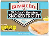 Bumble Bee Skinless and Boneless Smoked Trout Fillets In Canola Oil, 3.8 Ounce Cans, 12 Count
