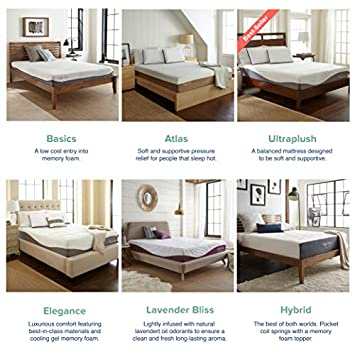 UltraPlush Gel-Max Memory Foam Mattress by Perfect Cloud Twin – 10-inches Tall – Featuring New Visco Gel Cool Design So You ll Sleep Comfortably All Night