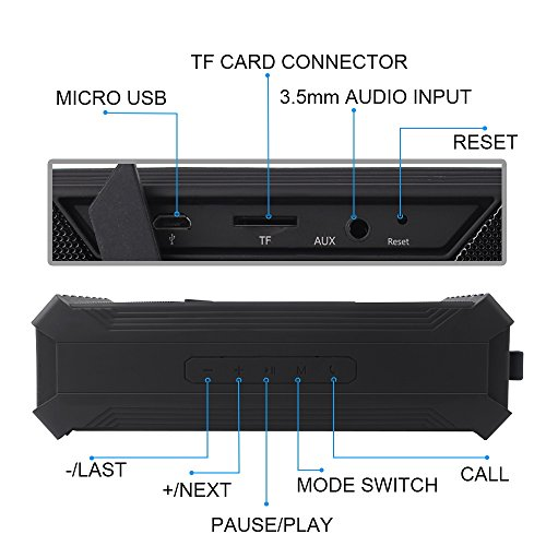 docooler Altavoz Portátil Inalámbrico Bluetooth Altavoz Dual 10 W Subwoofer Altavoz Reproductor de Música Estéreo Multifunción Altavoz Tarjeta TF Line-in