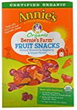 Annies Homegrown Organic Bernies Farm Fruit Snacks Natural Strawberry Raspberry & Orange -- 5 Pouches