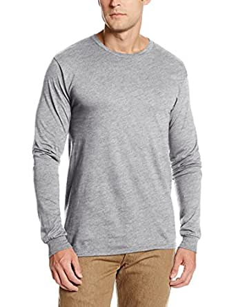 Soffe Men's Pro Weight Long Sleeve Tee Athletic Heather Small