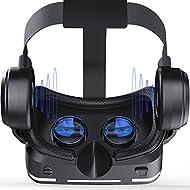 Shinecon 3d VR casque de réalité virtuelle Lunettes 3d VR pour iPhone 76, Galaxy, HTC, LG, Sony, moto Smartphone et autres 11,9- 15,2cm téléphones portables avec casque