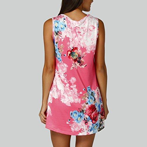 Stampa Floreale Maniche Fiori T Gilet Rosso In Ashop shirt Da Camicetta Abbigliamento Corte A Rosa T Donna Con Senza Shirt BqYxZ6