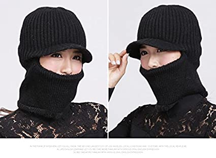 c56ba74b419 Image Unavailable. Image not available for. Color  Winter Hat-NACOLA Skull  Mask Balaclava Face Mask Winter Hats For Women Men Knitted Cap