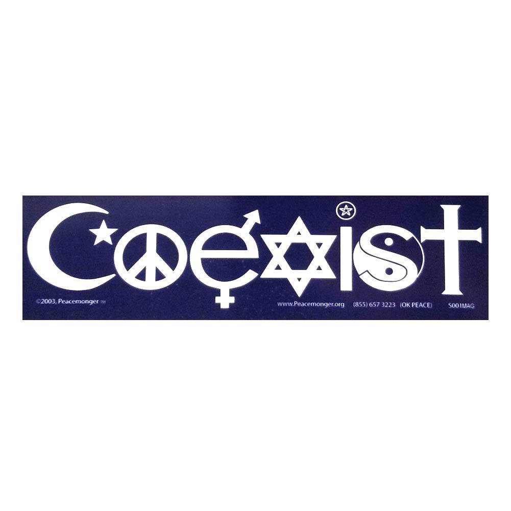 Amazon com s001 s060 coexist and tolerance interfaith symbol glyph 2 magnet pack automotive