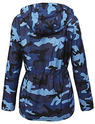 ELESOL Women's Lightweight Raincoat Hooded Waterproof Active Outdoor Rain Jacket
