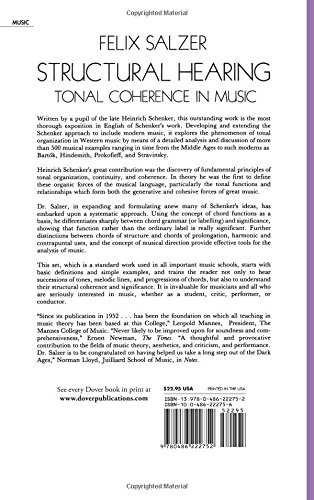 Structural Hearing: Tonal Coherence in Music (Dover Books on Music ...