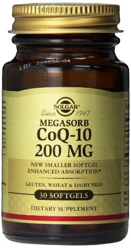 Solgar Megasorb CoQ-10 Supplement, 200 mg, 30 Count ()
