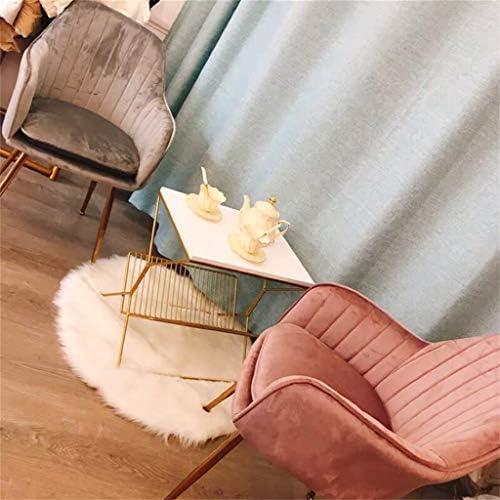 Cuisine dinant des chaises, Chaise de siège de Coussin de Tissu Moderne w/Jambes en métal/Dossier Large, pour Le café/Cuisine/Salon/Chambre à Coucher, Velours Rose