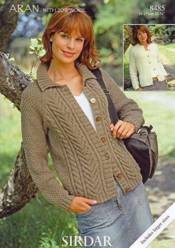 Sirdar bonus aran with wool ladies knitting pattern 8485 amazon sirdar bonus aran with wool ladies knitting pattern 8485 dt1010fo