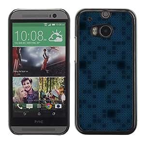 TopCaseStore / la caja del caucho duro de la cubierta de protección de la piel - Simple Pattern 11 - HTC One M8