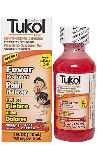 amazon com tukol children s fever and pain cherry flavor 4 fl oz rh amazon com