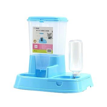 MMLI-Pet Supplies Alimentador de Alimentos para Mascotas automático portátil y Conjunto de Agua Alimentador