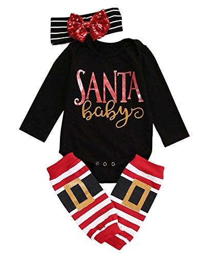 Price comparison product image Ripe Mango Boutique Baby Body Suits Santa (10-12 Months)