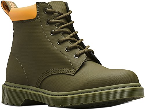 Collar Boot 6 Eye Padded (Dr. Martens Men's 939 6-Eye Padded Collar Boots, Olive, Leather, 13 M UK, 14 M US)