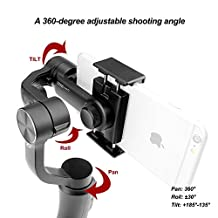 """Zhiyun Smooth-Q 3 Axis Handheld Gimbal for Smartphone Up to 6"""" No More Counterweight, Freely Switch Standard/Vertical Shooting, 8hrs Run-Time, Buttons to Photo/Record/Zoom In/Out - Black"""