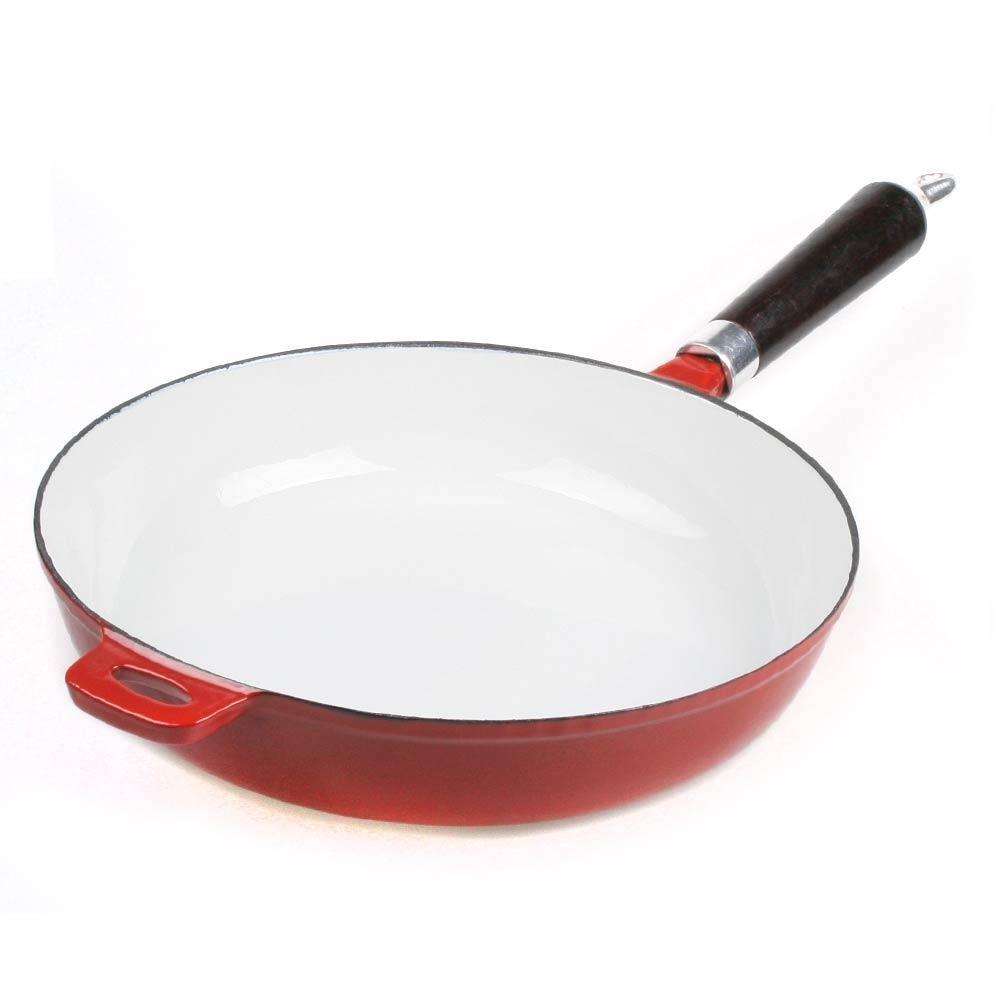 Big bBQ poêle 27 cm en fonte à revêtement émaillé rouge Big-BBQ