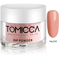 TOMICCA Dip Powder Acrylic Dipping Dust Powder for Nails 2 Ounce (Naked Pink)