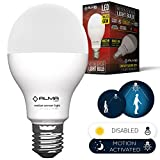 Motion Sensor Light Bulb - Motion Activated LED Light Bulb with Dusk to Dawn Motion Detector for Outdoor Indoor Front Door Garage Basement Porch - E26 7W Daylight White