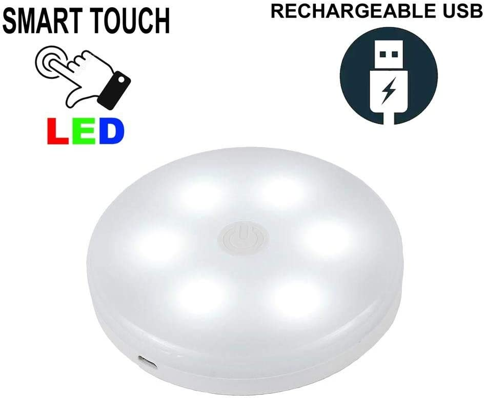 Aurora Golden Smart Touch LED Puck Light Pure White USB Rechargeable