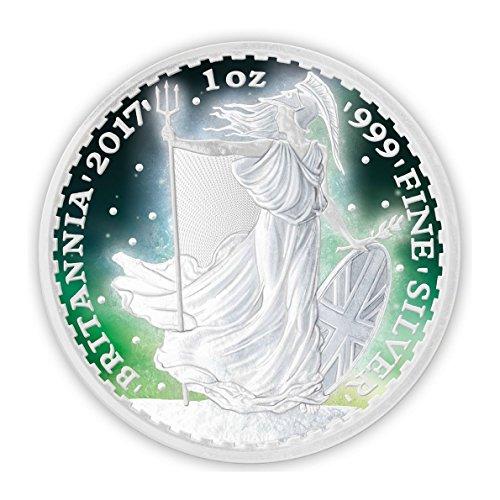 Price comparison product image Frozen Britannia Aurora Rhodium £2 1oz Rhodium Plated Silver Coin - United Kingdom 2017
