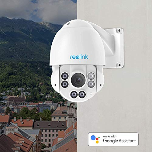 Reolink PTZ Camera Outdoor 5MP Super HD, PoE IP Security Vedio Surveillance, 190ft IR Night Vision Pan Tilt 4X Optical Zoom, 2.7-12 mm Motorized Auto-Focus Lens, 360° View, IP66 Waterproof, RLC-423