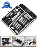 Manicure Pedicure Set (18Pcs), KFYM manicure tools, Stainless Nail Clipper, Professional Grooming Kit, Nail Tools with Luxurious Travel Case