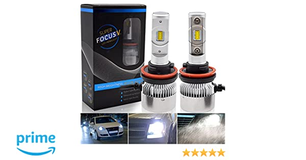 Pack of 2 Auto Lighten Extremely Bright 10800LM CSP Chips All-in-One H8//H9 Fog Light Bulb Conversion Kit Mini Size H11 LED Headlight Bulb 6000K Cool White-2 Year Warranty