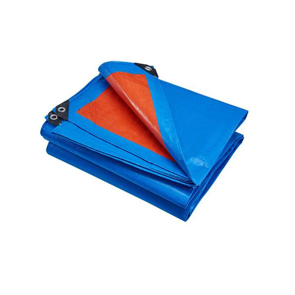 CJC ターポリン 防水 ヘビー 義務 シート プレミアム 品質 カバー 180g /m² (色 : 青, サイズ さいず : 10X8M) 10X8M 青 B07H8357YD