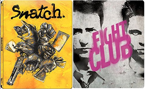 Snatch & Fightclub Steelbook Exclusive Limited Edition [Blu-ray] metal Set