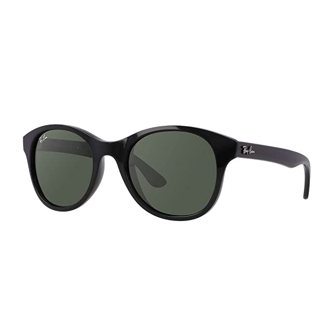 5e102f8345 Ray-Ban NYLON UNISEX SUNGLASS - BLACK Frame CRYSTAL GREEN Lenses 51mm Non- Polarized