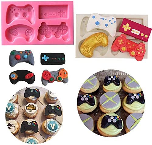 CLAY ETC 4cm xbox game controller silicone mold for cake decorating