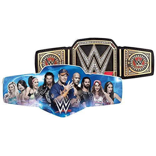 NMR DIST AMERICA WWE Belt Two In One Jigsaw Shaped Puzzle - 600 Pieces Double Sided 31'' X 14'' by NMR DIST AMERICA