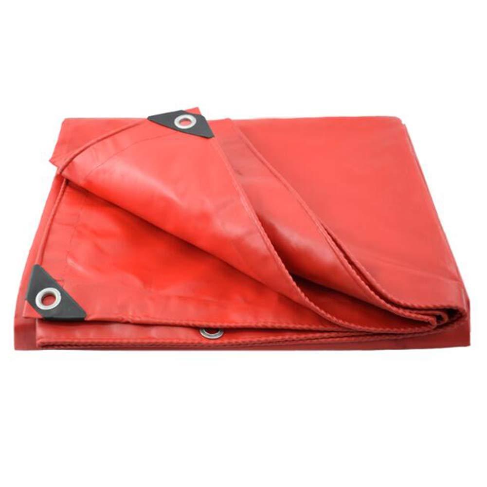 MuMa Plane Rot Verdicken Regenfest Wasserdicht Sonnencreme Schatten Segeltuch Besonders Angefertigt (Farbe   rot, größe   4  4M)