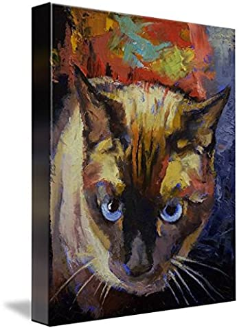 Wall Art Print entitled Seal Point Siamese by Michael Creese | 16 x 20 - Seal Point Siamese Cats