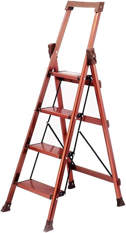 Liuwenan Escalera para Uso doméstico Escalera de Aluminio Grueso Escalera Plegable Plegable Escalera multifunción Interior (Color : Red, Size : 72 * 44.5 * 139CM): Amazon.es: Hogar