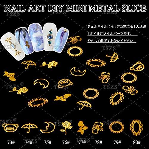 (Kamas 250pcs/lot Metal Slices Nail art Gold Rose/Bear/Scorpion/Mermaid Decoration Decal Craft DIY - (Color: 78))