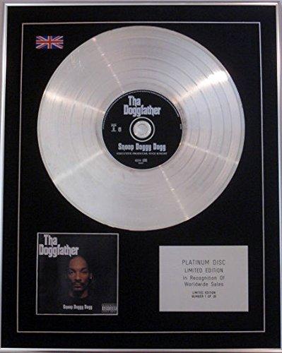 SNOOP DOGGY DOGG - Ltd Edition CD Platinum Disc - THA DOGGFATHER