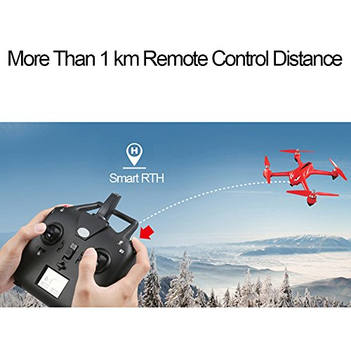 LOHOME B2W Bugs 2 W RC Quadcopter - 2.4GHz 6-Axis Gyro 1080P HD 5G Wifi Camera FPV Drone Remote Control Drone Folding Aircraft - Red