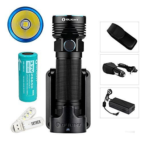 Olight R50 PRO Seeker LE Kit 3200 Lumens Cree XHP70 LED Variable-output Rechargeable Side Switch LED Flashlight (Law Enforcement Kit) by SKYBEN (Image #7)