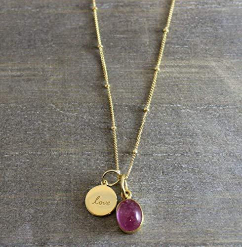 LOVE NECKLACE 14KT GOLD LOVE NECKLACE 18 INCHES