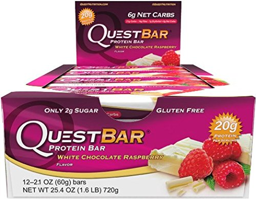 Quest Bars-White Chocolate Raspberry 36 Bars