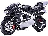 MotoTec GBmoto Gas Pocket Bike 40cc 4-Stroke, Non Califonia Compliant (Black)