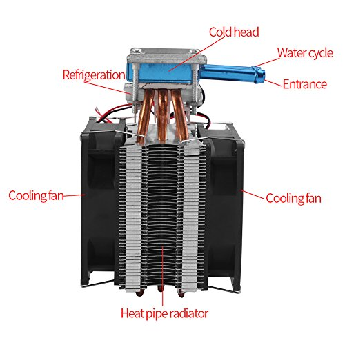 12V 180W Semiconductor Refrigeration Cooler Thermoelectric Peltier Water Cooling System DIY Device with Fan by Walfront (Image #1)