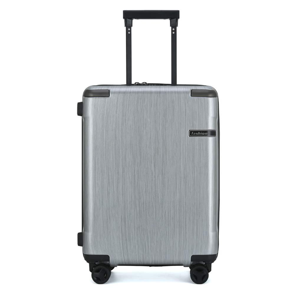 軽量の堅い貝はRyanair、easyJet、ブリティッシュエアウェイズ、バージン大西洋および多くのために承認されている4つの車輪が付いている手の小屋の荷物旅行紡績工のスーツケースで運びます。 20IN Silver B07MNTFH8G