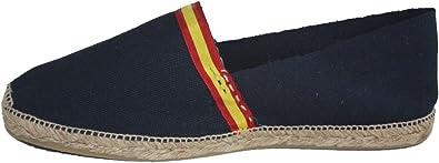 Alpargatas Azul Marino con Bandera ESPAÑA Cosida A Mano EN LA Rioja (ESPAÑA) (44): Amazon.es: Zapatos y complementos