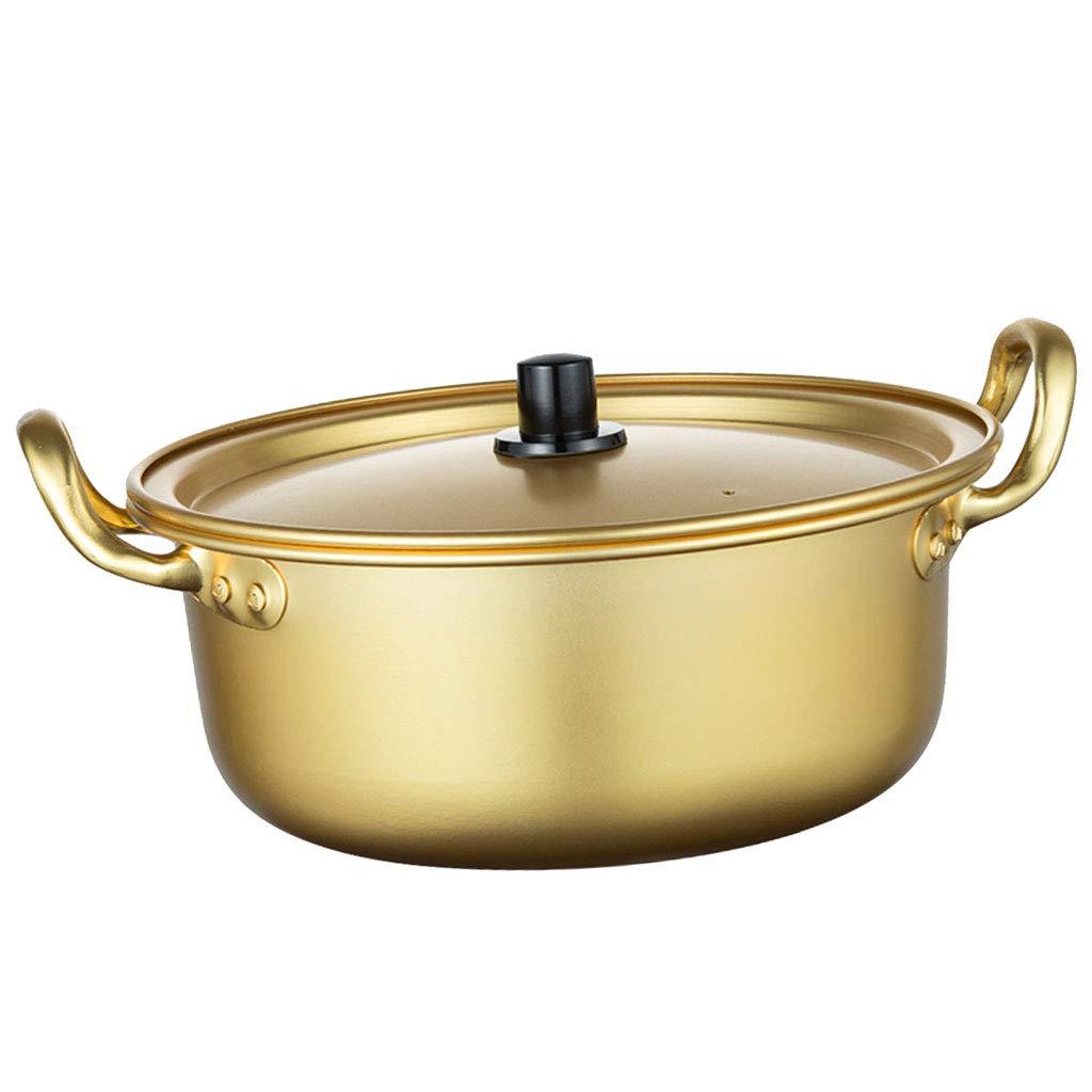 P Prettyia Korean Ramen Noodle Pot Golden 14cm