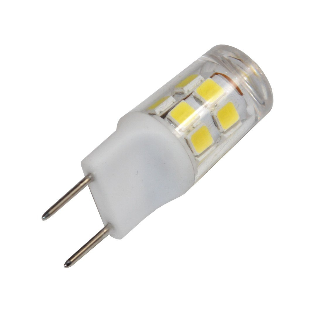HQRP G8 Bi-Pin 17 LEDs Light Bulb SMD 2835 Cool White for GE Over The Stove Microwave Oven Plus Coaster