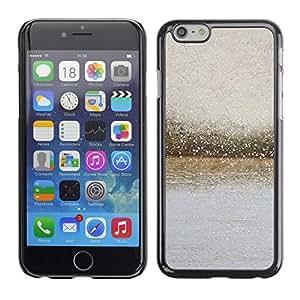 TopCaseStore / la caja del caucho duro de la cubierta de protección de la piel - River Glass Raindrops Blurry Grey Summer - Apple iPhone 6