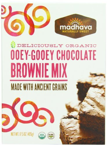 Ooey Gooey Brownies - Madhava Organic Ooey-Gooey Chocolate Brownie Mix with Ancient Grains, 18 Ounce (Pack of 6) by Madhava